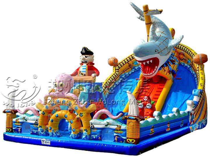 充气城堡-巨鲨来袭